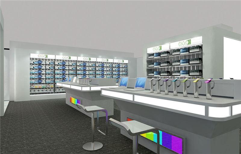 电子产品展柜效果图
