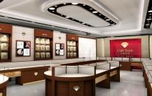 科普珠宝展柜用的材料差异化效果展示