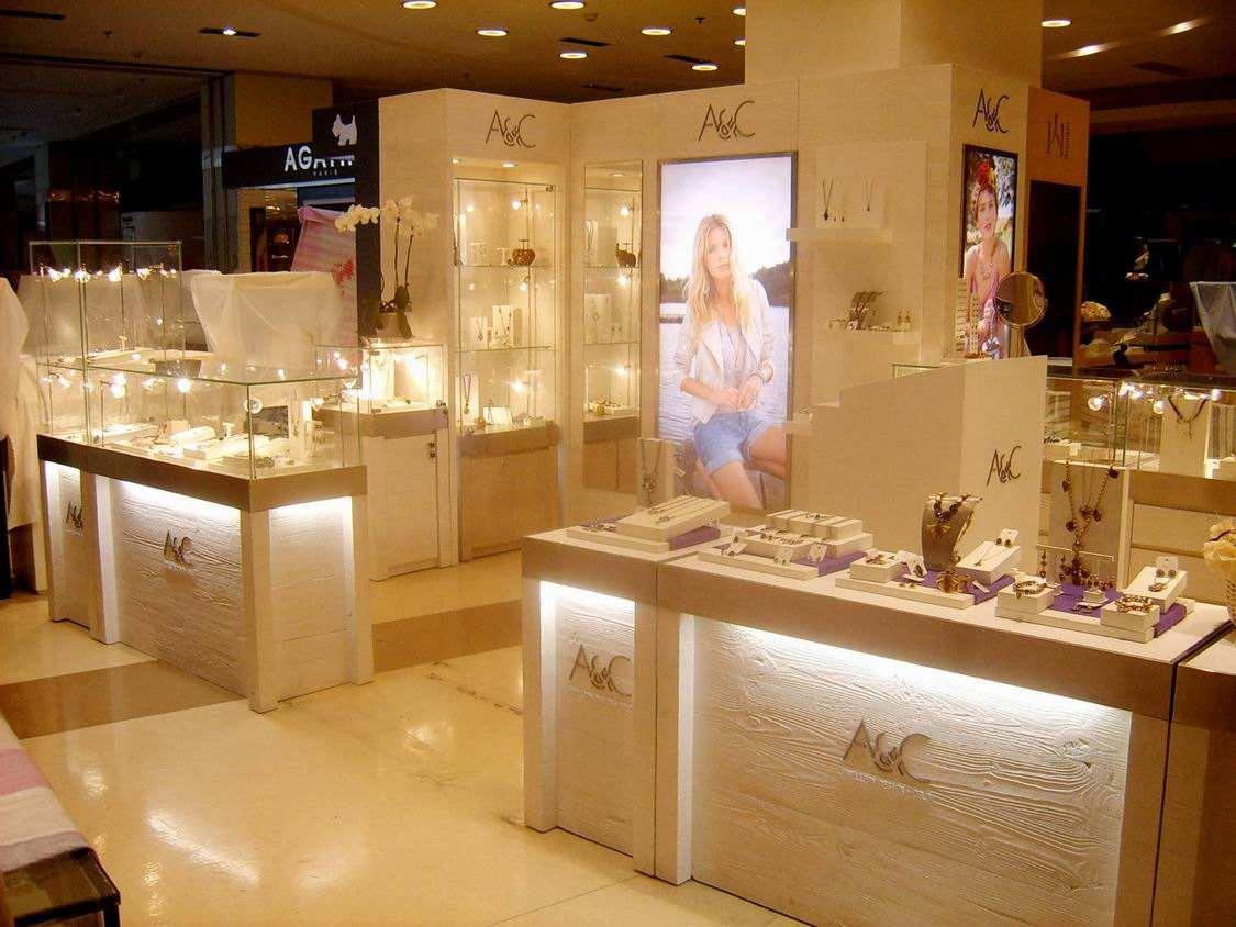 广州天门珠宝展示柜台订制客户