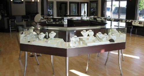 Beijing jewelry store display cabinet customized customers