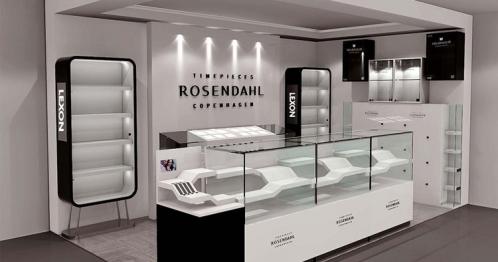 Three years of cooperation in jiangxi ji 'an jewelry display cabinet customized customers