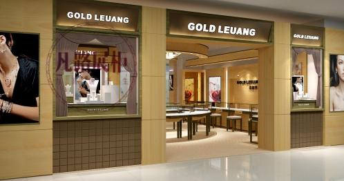美国品牌哥德里昂珠宝展示柜装修效果图