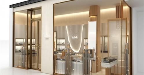珠宝展厅不锈钢珠宝柜台设计效果图