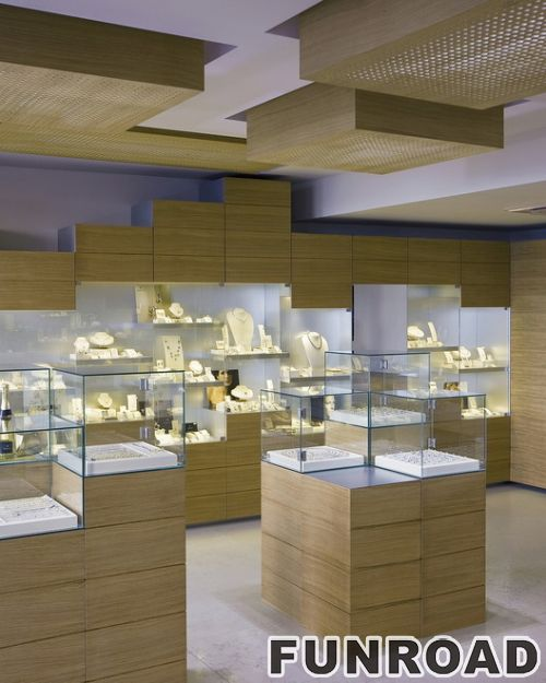 优雅定制的有吸引力的手表店展柜效果图