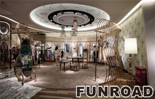 时尚名牌服装店服装展示柜展示架设计