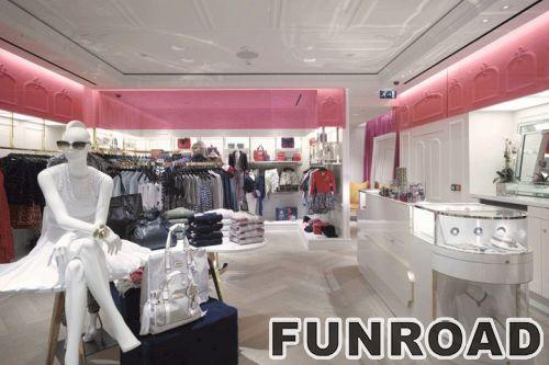 时尚女装店展示架免费设计