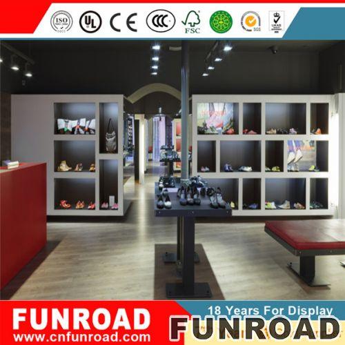 现代鞋架商业鞋架展示架/设计木质展柜