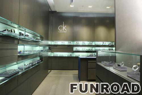 2017年时尚定制手表商店展柜设计,手表展示柜效果图