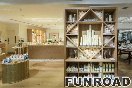 新款式高品质零售化妆品墙壁显示柜