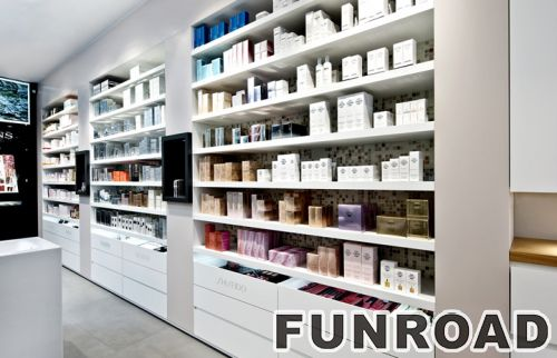 光亮的MDF绘画时尚木化妆展示柜台