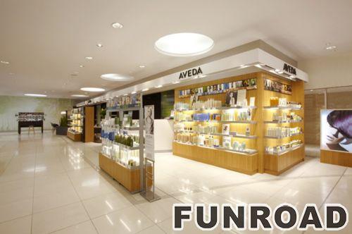 专业厂家化妆品商店展示柜销售效果图