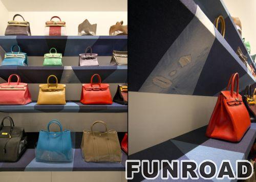 手提袋零售展示用玻璃壁柜