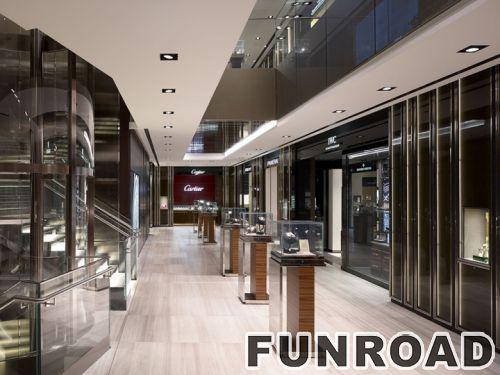 珠宝店橱窗展示柜台设计