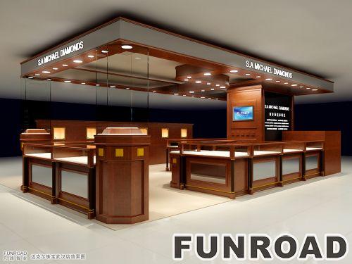 现代风格MDF珠宝陈列展柜设计