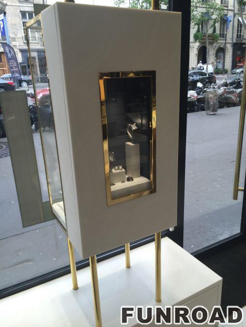 定制珠宝商店橱窗展示柜