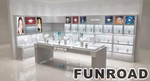 12平米商场珠宝柜台设计制作