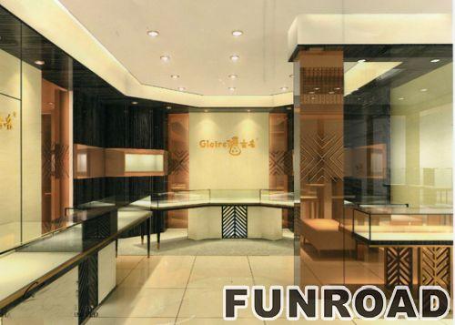 30平米珠宝店陈列柜设计制作
