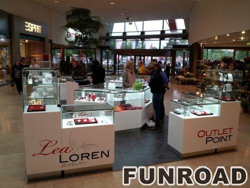 定制的零售商店柜台设计/led玻璃珠宝陈列柜/购物中心珠宝柜台