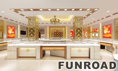 在商场销售的MDF或玻璃或金属材质的珠宝展柜