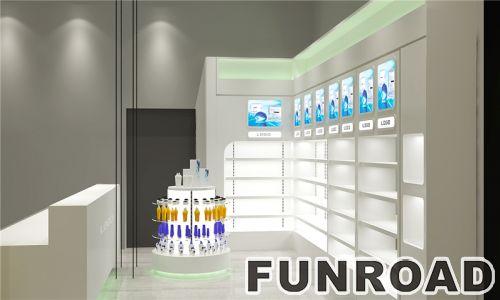 免费设计批发化妆品商店展示货架展示柜