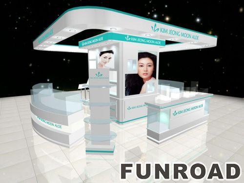 化妆品商店陈列化妆品柜台家具展柜