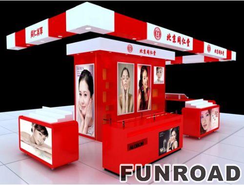 定制设计现代丙烯酸化妆品展柜