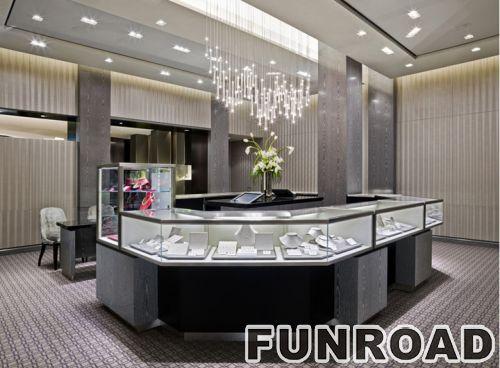 品牌珠宝店装饰设计的独特珠宝展示柜台