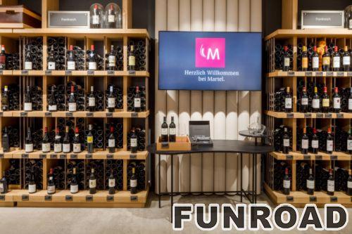 商用超市酒柜货架 高档红酒柜展示柜