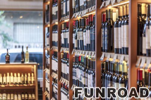 常温超市商场红酒展柜中岛柜设计效果图