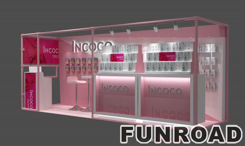 购物商场展柜粉色展示柜展示架