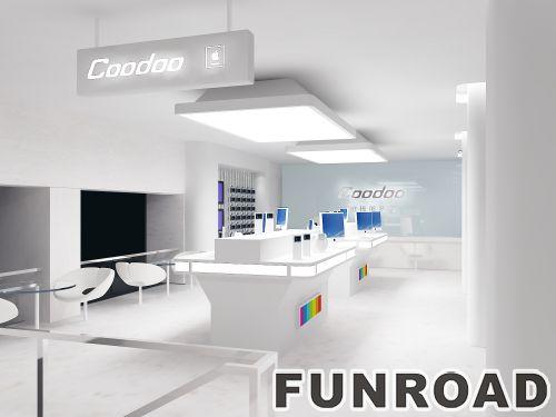 coodoo苹果手机售后维修中心展示柜制作