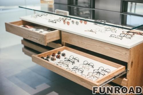 抽屉眼镜储物柜台设计制作