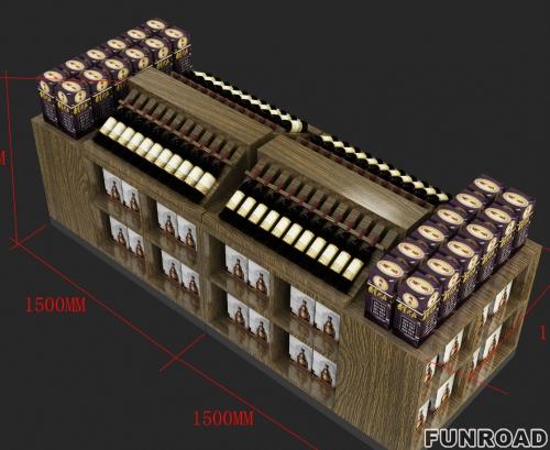 酒柜定做木质复古红酒柜定制方案