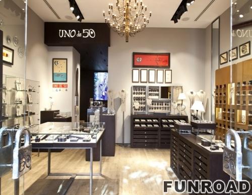 时尚定制珠宝商店内部装饰展示柜台设计效果图