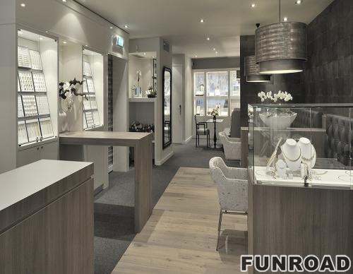 定制高品质的品牌珠宝商店陈列展示柜台效果图