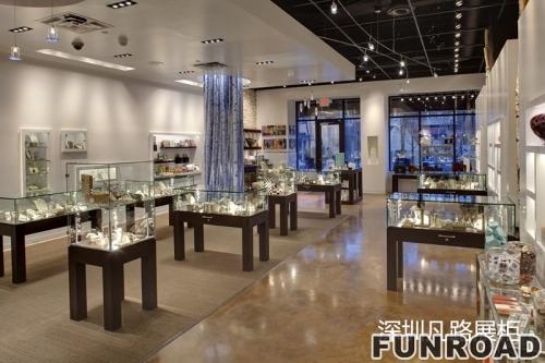 LX商业空间亚克力珠宝展示柜柜台陈列效果图