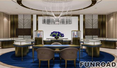 国际珠宝店商业空间珠宝展柜设计效果图