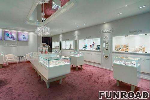 高端珠宝商店展示厅家具珠宝展柜橱窗