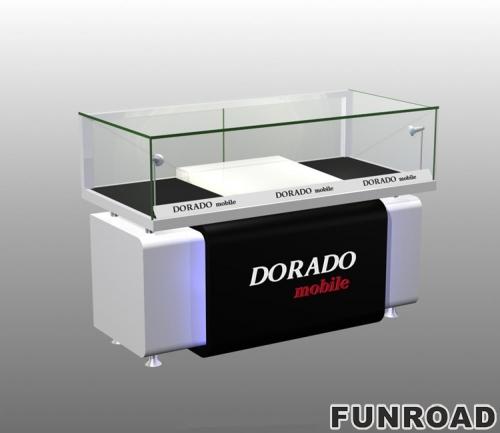 手机柜台钱包盒新流行手机配件展柜设计效果图-可来图订制