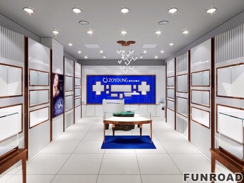 卓阳木质玻璃首饰珠宝展柜商业空间设计效果图-可订制