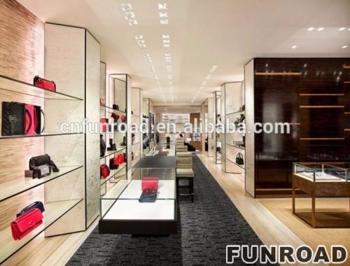 女士包包展示柜台设计鞋子包包店面设计
