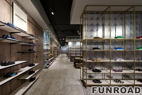 鞋陈列柜鞋子展示柜台设计制作