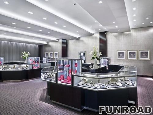 宁波客户订制的珠宝展示柜台设计展示原图