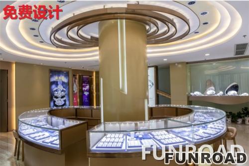 2017卡地亚不锈钢玻璃珠宝展示柜设计展示效果图