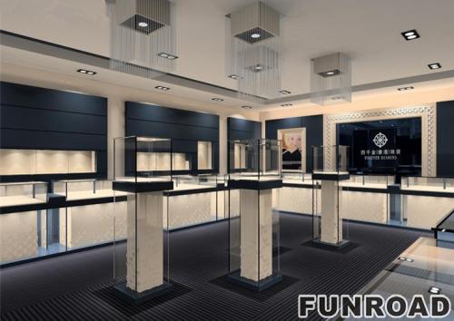 几款国内高端珠宝展柜以及展示柜台设计制作效果图
