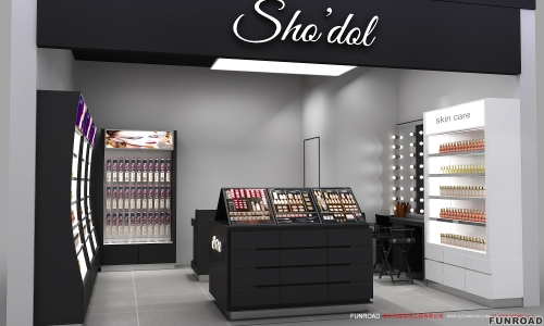 凡路展示定制化妆品展示柜家具
