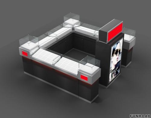 中国制造的Opticl小亭子的3D展柜设计