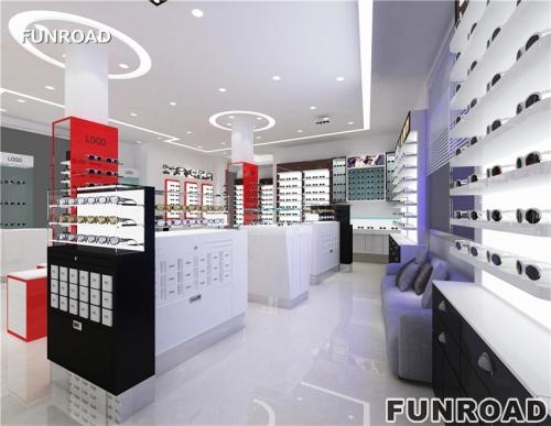 定制显示现代光学商店展柜设计制作