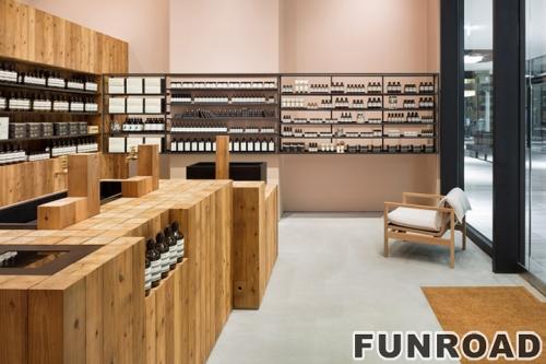 新到2018年化妆品展示家具店柜台设计化妆亭