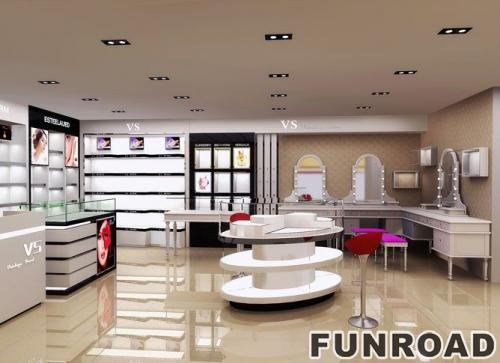 购物中心化妆品展柜设计/化妆品展示柜陈列柜设计